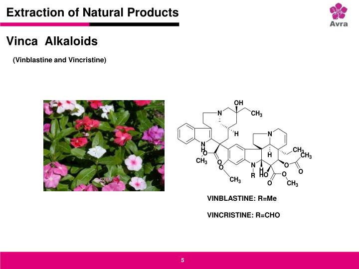 Extraction of Natural Products