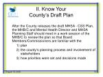 ii know your county s draft plan