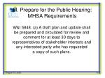 iii prepare for the public hearing mhsa requirements