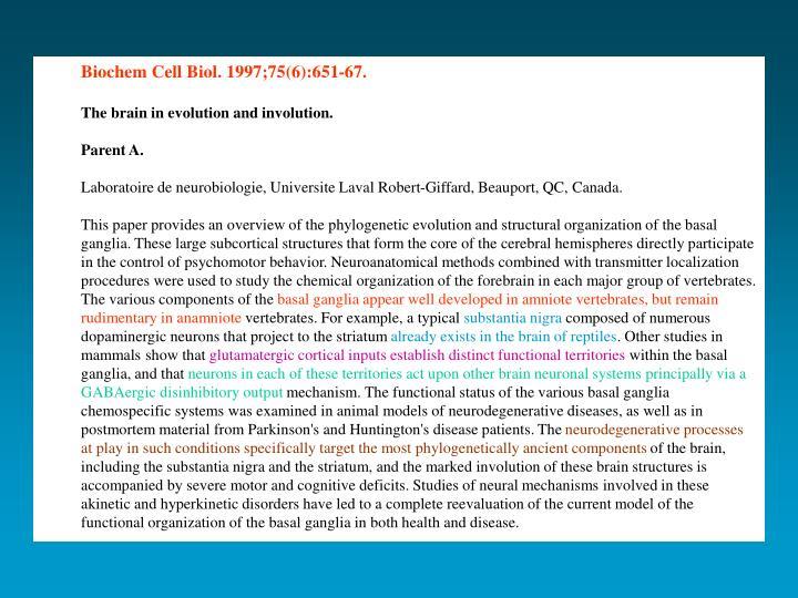 Biochem Cell Biol. 1997;75(6):651-67.