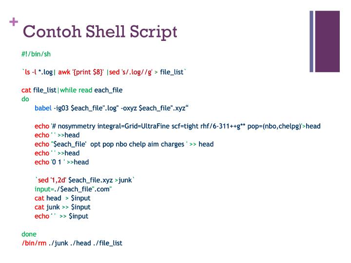 Contoh Shell Script