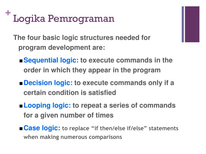 Logika Pemrograman