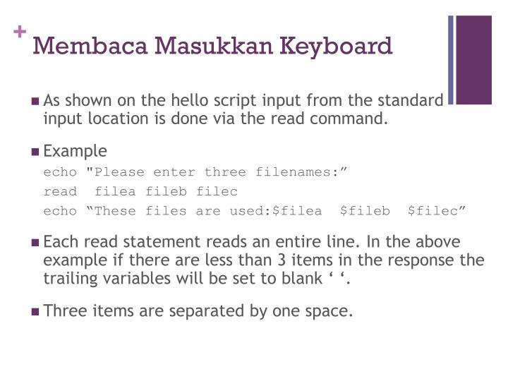 Membaca Masukkan Keyboard