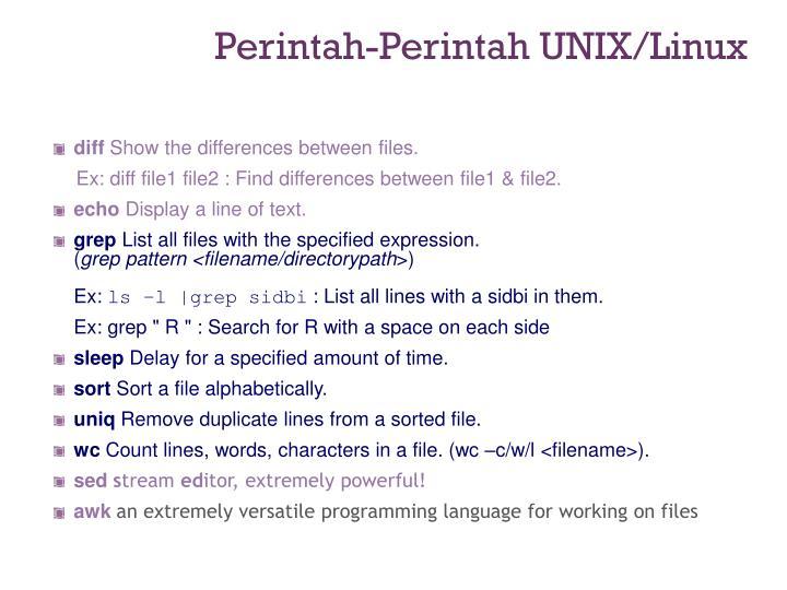 Perintah-Perintah UNIX/Linux