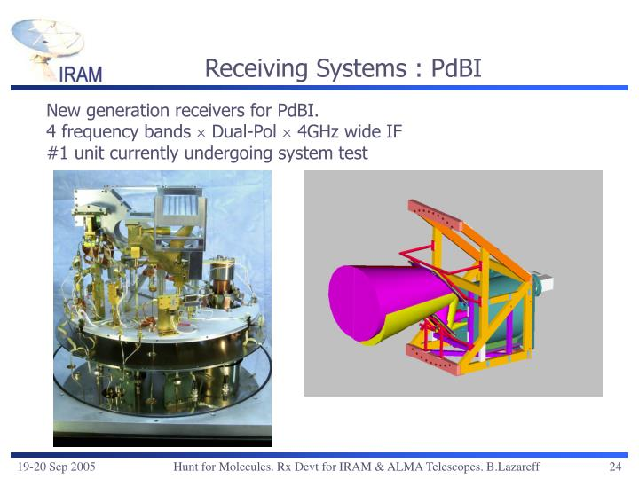 Receiving Systems : PdBI