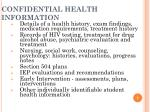 confidential health information