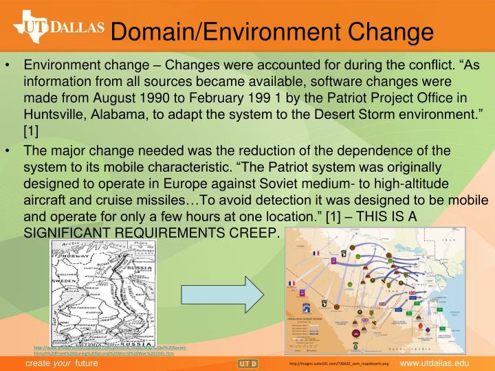 Domain/Environment Change