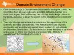 domain environment change