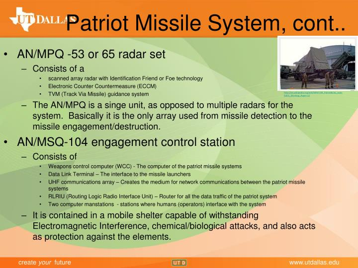 Patriot Missile System, cont..