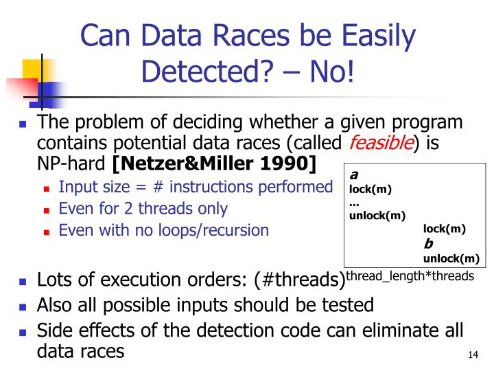Can Data Races be Easily Detected? – No!