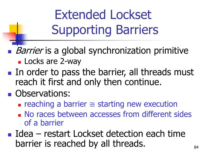 Extended Lockset