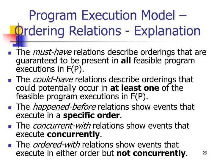 Program Execution Model –