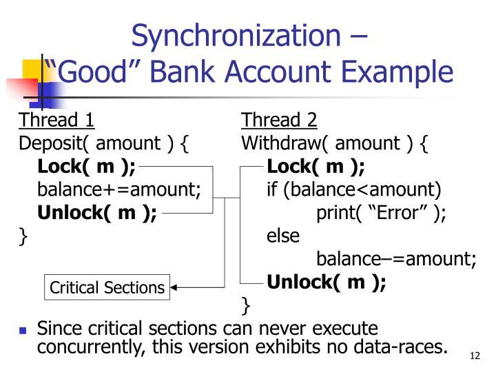Synchronization –