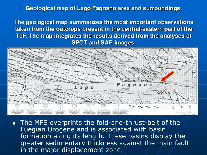 Geological map of Lago Fagnano area and surroundings