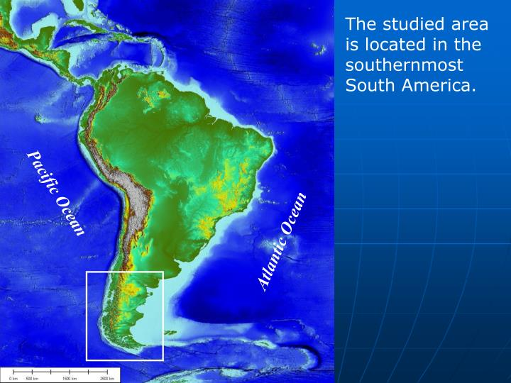 The studied area is located in the southernmost South America.