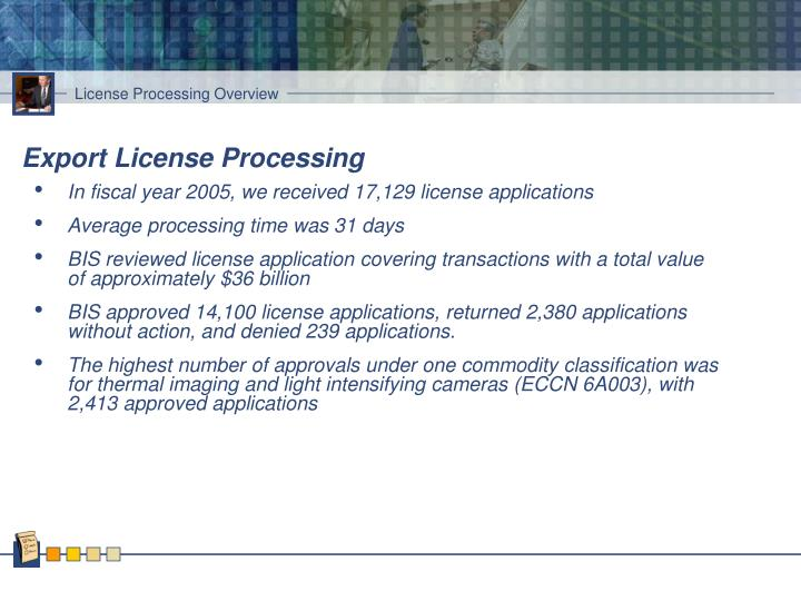 Export License Processing