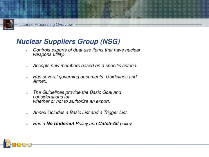 Nuclear Suppliers Group (NSG)