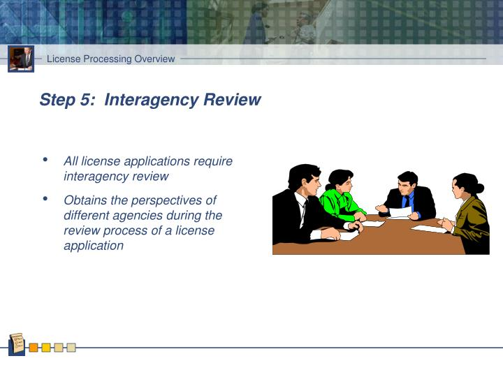 Step 5:  Interagency Review