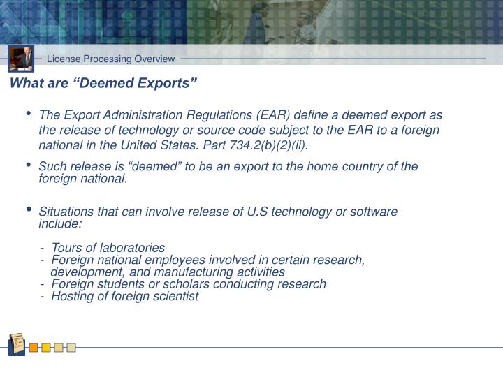 "What are ""Deemed Exports"""