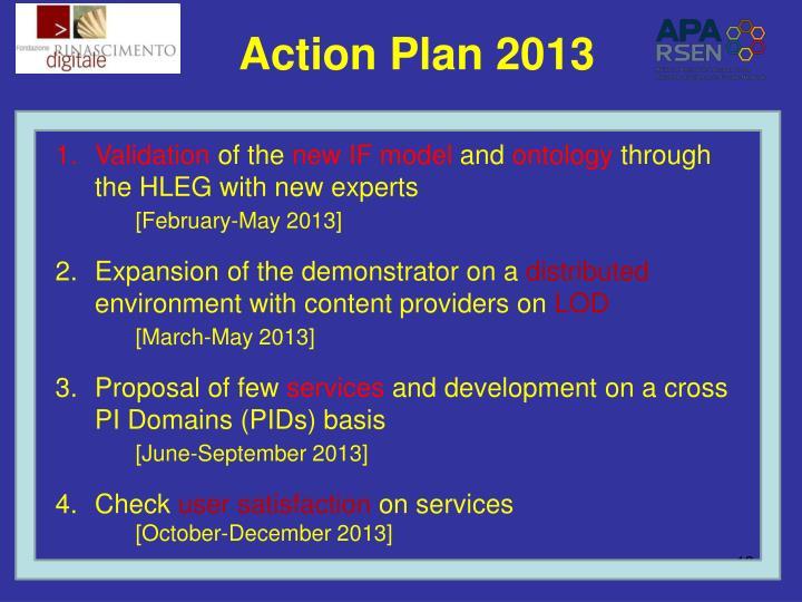 Action Plan 2013