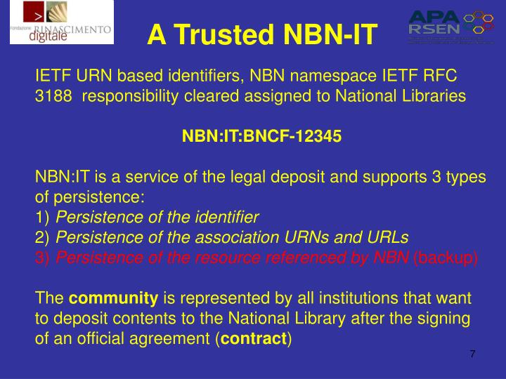A Trusted NBN-IT
