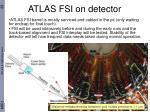 atlas fsi on detector