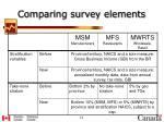 comparing survey elements1