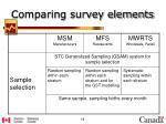 comparing survey elements7