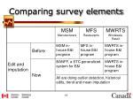 comparing survey elements8