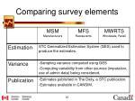 comparing survey elements9