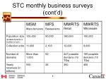 stc monthly business surveys cont d