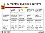 stc monthly business surveys