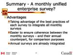 summary a monthly unified enterprise survey