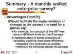 summary a monthly unified enterprise survey1