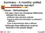 summary a monthly unified enterprise survey2