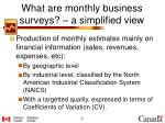 what are monthly business surveys a simplified view