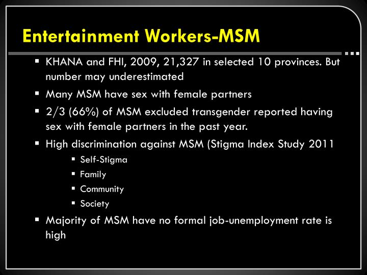 Entertainment Workers-MSM