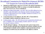 broadband commission for digital development bcdd un targets for universal broadband 2015