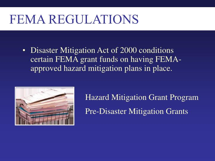 FEMA REGULATIONS
