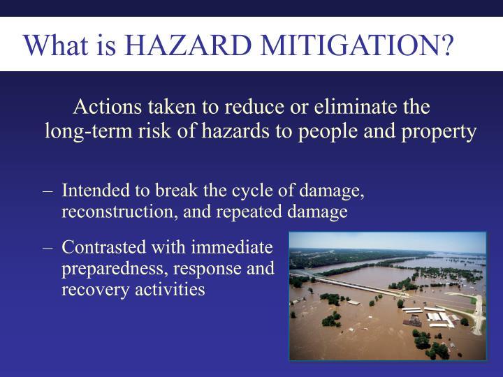 What is HAZARD MITIGATION?