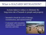 what is hazard mitigation