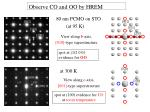 observe co and oo by hrem