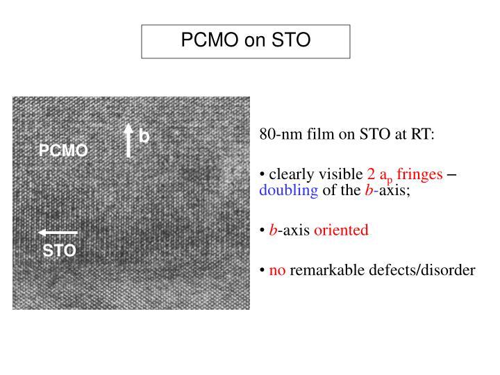 PCMO on STO