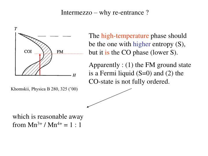 Intermezzo – why re-entrance ?
