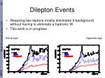 dilepton events