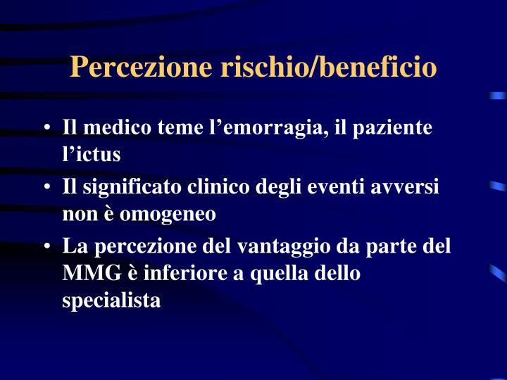 Percezione rischio/beneficio