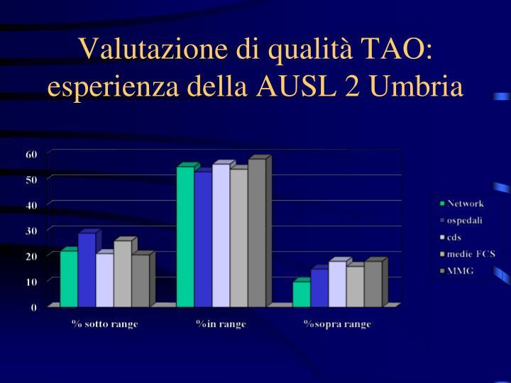 Valutazione di qualità TAO: esperienza della AUSL 2 Umbria