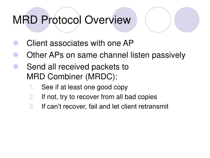 MRD Protocol Overview