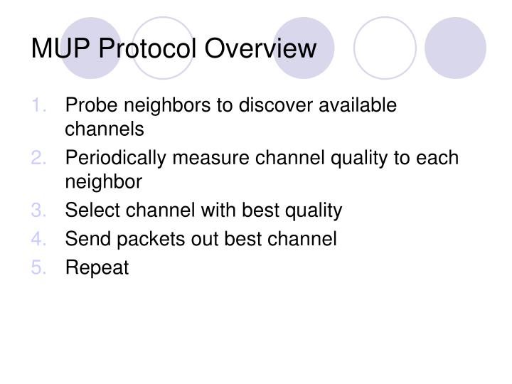 MUP Protocol Overview