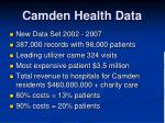 camden health data
